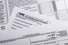 Forme 1099-B d'IRS : Courtier en bonne santé de montant et échange Transa d'échange Image stock