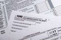 Forme 1099-B d'IRS : Courtier en bonne santé de montant et échange Transa d'échange Image libre de droits