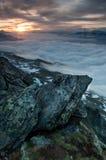 Forme Bettmerhorn de lever de soleil Images stock