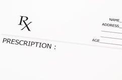 Forme blanc de prescription photos stock