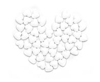 Forme blanche de coeur de forme de pillules Photo libre de droits
