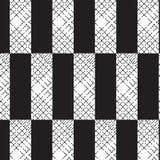 Forme blanche noire de rectangle avec les hôtes à ligne pleine diagonaux noirs illustration libre de droits