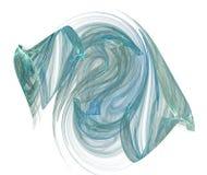 Forme bleu-vert de vapeur sur le blanc Image libre de droits