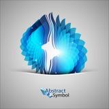 Forme bleue Photographie stock libre de droits