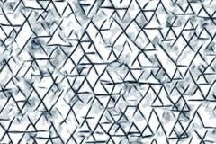 Forme blu del triangolo e disegni astratti per un fondo illustrazione di stock