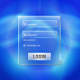 Forme brillante de login et de Web de s'inscrire Photo stock