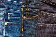 Forme calças de brim Imagens de Stock Royalty Free