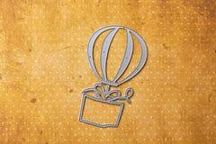 Forme chaude de ballon à air de matrice-coupeur de Scarpbooking Photos stock
