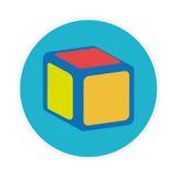 Forme circulaire avec le cube en jouet Images stock