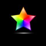 Forme colorée abstraite d'étoile Image libre de droits