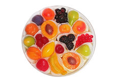 Forme colorée de fruit de sucreries. Photographie stock libre de droits