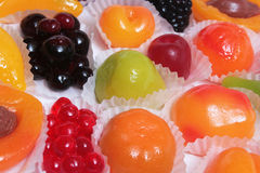 Forme colorée de fruit de sucreries. Images stock