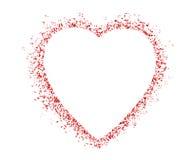 Forme colorée vide de coeur de Saint Valentin de symbole Image stock