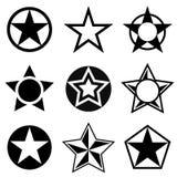 Forme con la stella a cinque punte Fotografie Stock
