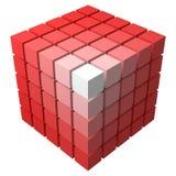 forme cubique de vecteur du style 3d faite d'avec plus petits cubes Illustration Libre de Droits