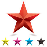 Forme d'étoile de graphisme de Web Images libres de droits