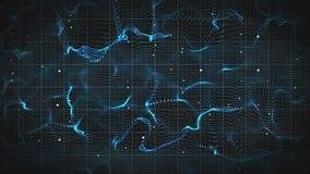 Forme 3D abstraite d'onde électromagnétique  Images libres de droits