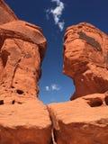 Forme d'Amazin de roche de forme d'U Images stock