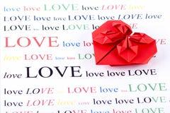 Forme d'amour d'origami Image libre de droits