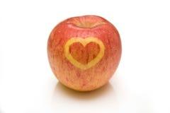 forme d'amour de coeur de pomme Images libres de droits