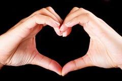 Forme d'amour du coeur Photographie stock libre de droits