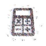 Forme 3d de calculatrice de personnes illustration stock