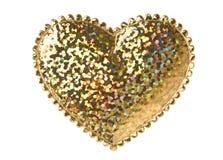 Forme d'or de coeur photographie stock