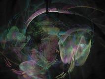 forme d'effet de fractale belle de la science de calibre de futur de papier peint mouvement futuriste magique numérique d'éléganc Image libre de droits