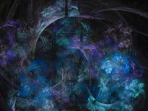 forme d'effet de fractale belle d'ornement de calibre de futur de papier peint mouvement futuriste exclusif unique numérique d'él Images stock