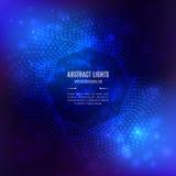Forme 3D géométrique octogonale de vecteur bleu abstrait de fond Photo stock