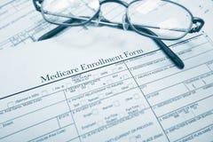 Forme d'inscription d'Assurance-maladie images stock
