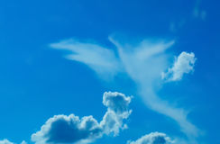 Forme d'oiseau en nuages Photographie stock libre de droits