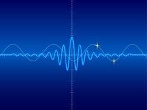 Forme d'onde à l'arrière-plan bleu Images stock