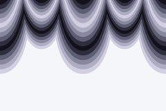 Forme d'onde abstraite noire et blanche Photos stock