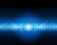 Forme d'onde bleue abstraite Image libre de droits