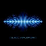 Forme d'onde saine bleue avec des tranchants Images stock