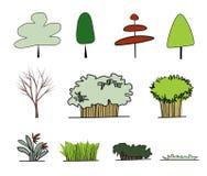 Forme da árvore Imagens de Stock Royalty Free