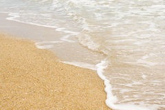Forme da onda na praia Foto de Stock