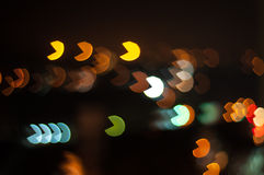 Forme de bokeh de Pacman Photo stock