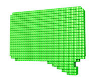 Forme de bulle de vert de Pixelated sur le blanc Photos libres de droits