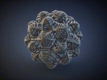 forme de carbone de l'absract 3d Images libres de droits