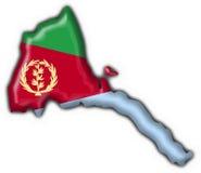 Forme de carte d'indicateur de bouton d'Eritrea Photos libres de droits