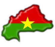 Forme de carte d'indicateur de bouton de Burkina Faso Photographie stock