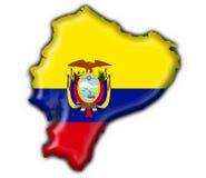 Forme de carte d'indicateur de bouton de l'Equateur Photos libres de droits