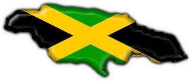 Forme de carte d'indicateur de bouton de la Jamaïque illustration libre de droits