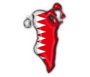 Forme de carte d'indicateur de bouton du Bahrain Photographie stock libre de droits
