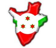 Forme de carte d'indicateur de bouton du Burundi Photos libres de droits