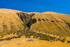 Forme de carte du Pérou en montagne Photo stock