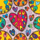 Forme de cercle d'amour dessinant le modèle sans couture Photographie stock