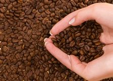 Forme de coeur avec des mains Photo libre de droits